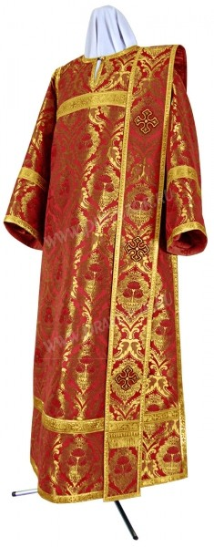 Дьяконское облачение из парчи ПГ6 (красный/золото)