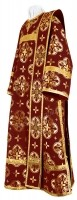 Дьяконское облачение из шёлка Ш3 (бордовый/золото)