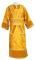 """Иподьяконское облачение - парча П """"Виноград"""" (жёлтое-золото) с бархатными вставками, обиходная отделка"""