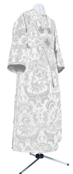 Иподьяконское облачение из парчи ПГ2 (белый/серебро)
