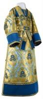 Иподьяконское облачение из парчи ПГ6 (синий/золото)