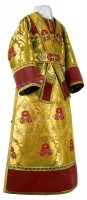 Иподьяконское облачение из парчи ПГ6 (жёлтый-бордо/золото)
