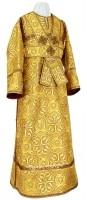 Иподьяконское облачение из шёлка Ш3 (жёлтый-бордо/золото)