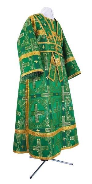 Иподьяконское облачение из шёлка Ш3 (зелёный/золото)