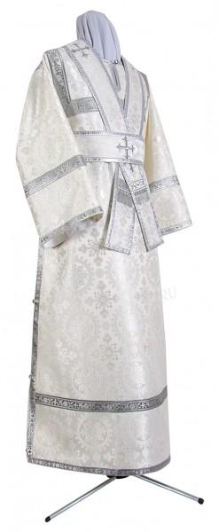 Иподьяконское облачение из шёлка Ш3 (белый/серебро)