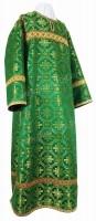 Стихарь клирика из парчи П (зелёный/золото)