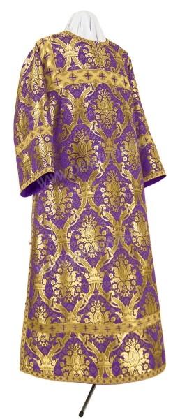 Стихарь клирика из парчи ПГ1 (фиолетовый/золото)