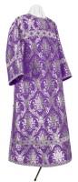 Стихарь клирика из парчи ПГ1 (фиолетовый/серебро)
