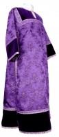 Стихарь клирика из парчи ПГ2 (фиолетовый/серебро)