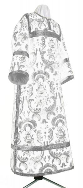 Стихарь клирика из парчи ПГ3 (белый/серебро)