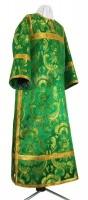 Стихарь клирика из парчи ПГ4 (зелёный/золото)