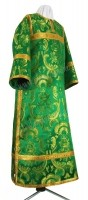 Стихарь клирика из парчи ПГ6 (зелёный/золото)