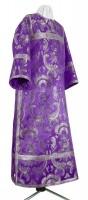 Стихарь клирика из парчи ПГ6 (фиолетовый/серебро)