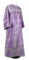 Стихарь клирика из шёлка Ш2 (фиолетовый/серебро)