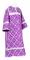 """Стихарь дьяконский - шёлк Ш3 """"Острожский"""" (фиолетовый-серебро), обыденная отделка"""