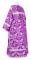 """Стихарь дьяконский - шёлк Ш3 """"Курск"""" (фиолетовый-серебро) вид сзади, обиходная отделка"""