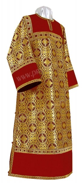 Стихарь клирика из шёлка Ш3 (красный/золото)