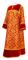 """Стихарь дьяконский - шёлк Ш4 """"Букет"""" (красный-золото) с бархатными вставками, обиходная отделка"""