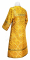 """Стихарь алтарника - парча П """"Николаев"""" (жёлтый-золото) вид сзади, Обыденные кресты"""