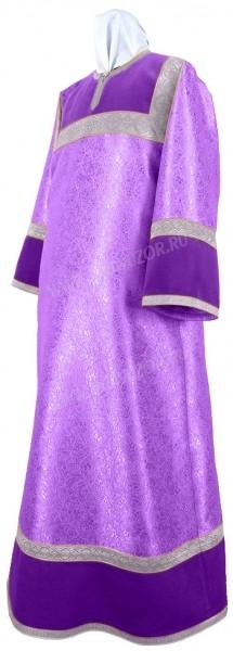 Стихарь алтарника из парчи ПГ2 (фиолетовый/серебро)
