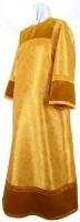 Стихарь алтарника из парчи ПГ3 (жёлтый-бордо/золото)