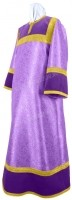 Стихарь алтарника из парчи ПГ4 (фиолетовый/золото)