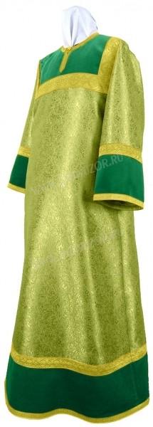 Стихарь алтарника из парчи ПГ6 (зелёный/золото)