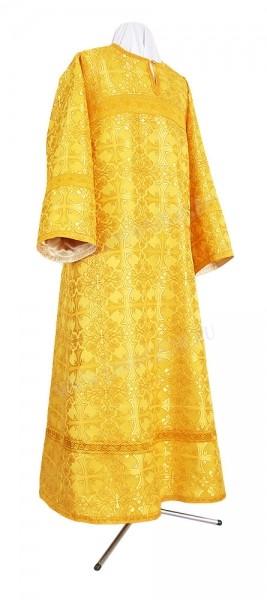 Стихарь алтарника из шёлка Ш2 (жёлтый-бордо/золото)