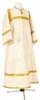 Стихарь алтарника из шёлка Ш2 (белый/золото)