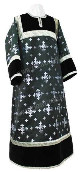 Стихарь алтарника из шёлка Ш3 (чёрный/серебро)