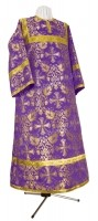Стихарь алтарника из шёлка Ш4 (фиолетовый/золото)