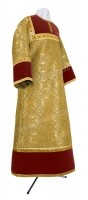Стихарь детский из парчи ПГ1 (жёлтый-бордо/золото)