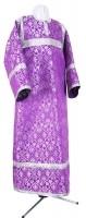 Стихарь детский из шёлка Ш2 (фиолетовый/серебро)