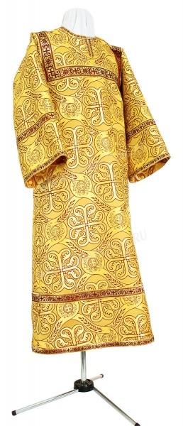 Стихарь детский из шёлка Ш3 (жёлтый-бордо/золото)