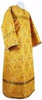 Стихарь детский из шёлка Ш3 (жёлтый/золото)