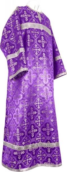 Стихарь детский из шёлка Ш3 (фиолетовый/серебро)