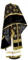Греческое иерейское облачение из парчи П (чёрный/золото)