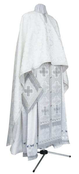 Греческое иерейское облачение из парчи П (белый/серебро)