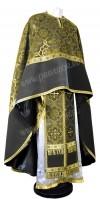Греческое иерейское облачение из парчи ПГ1 (чёрный/золото)