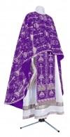 Греческое иерейское облачение из парчи ПГ2 (фиолетовый/серебро)