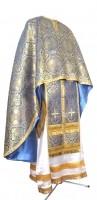 Греческое иерейское облачение из парчи ПГ3 (синий/золото)