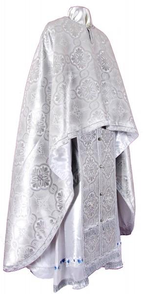 Греческое иерейское облачение из парчи ПГ3 (белый/серебро)