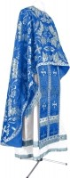 Греческое иерейское облачение из парчи ПГ5 (синий/серебро)