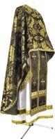 Греческое иерейское облачение из парчи ПГ5 (чёрный/золото)