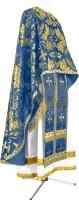 Греческое иерейское облачение из парчи ПГ6 (синий/золото)