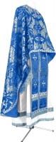 Греческое иерейское облачение из парчи ПГ6 (синий/серебро)