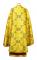 Греческое облачение священника - парча ПГ6 (золото-бордо) (вид сзади)