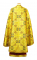 """Греческое облачение священника - парча ПГ6 """"Корсунь"""" (жёлтое-золото) вид сзади, обиходная отделка"""