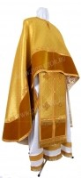 Греческое иерейское облачение из парчи ПГ6 (жёлтый-бордо/золото)