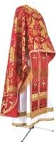Греческое иерейское облачение из парчи ПГ6 (красный/золото)